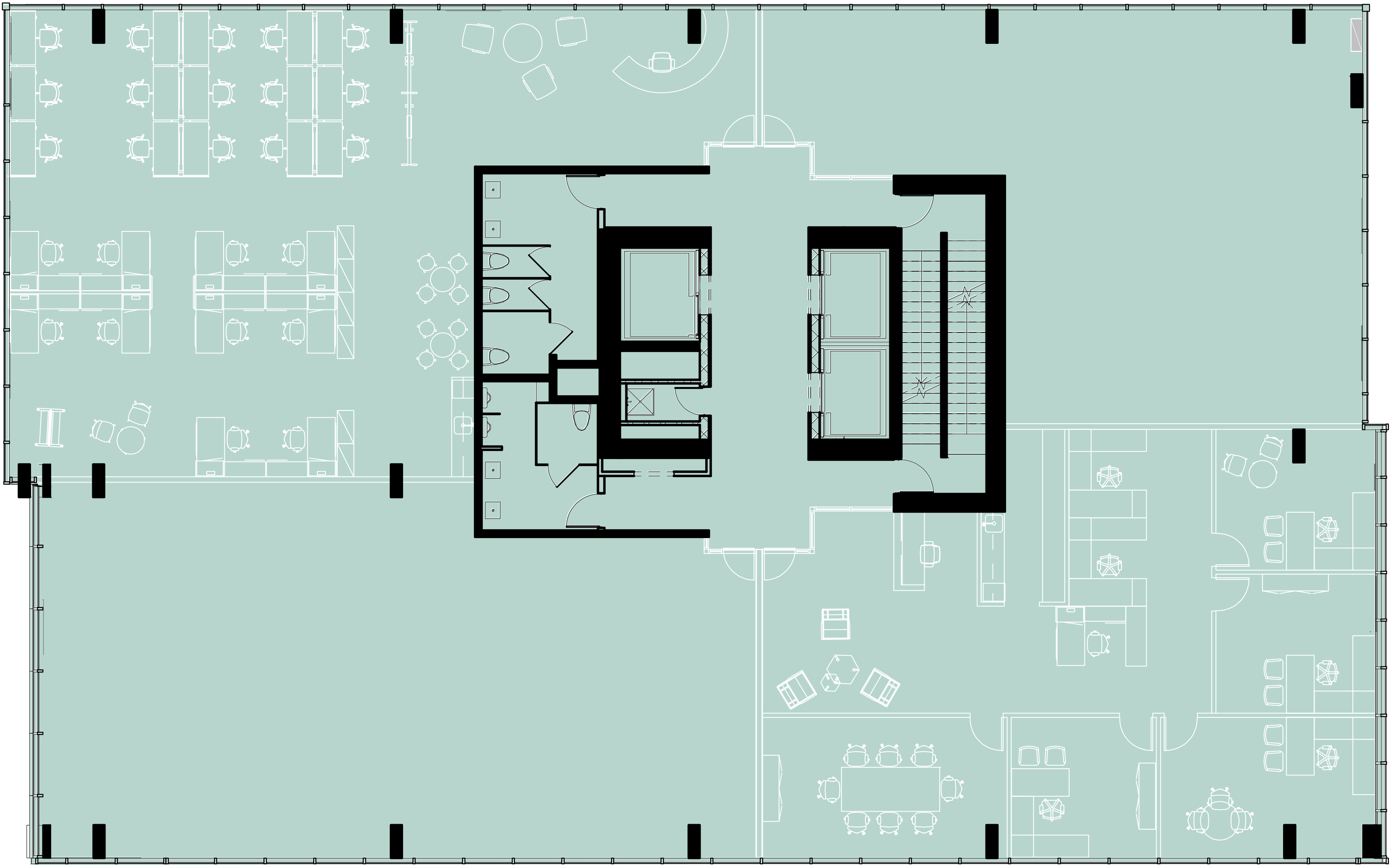 Typical Floorplate – Four-unit Division (Level 6 to 16)