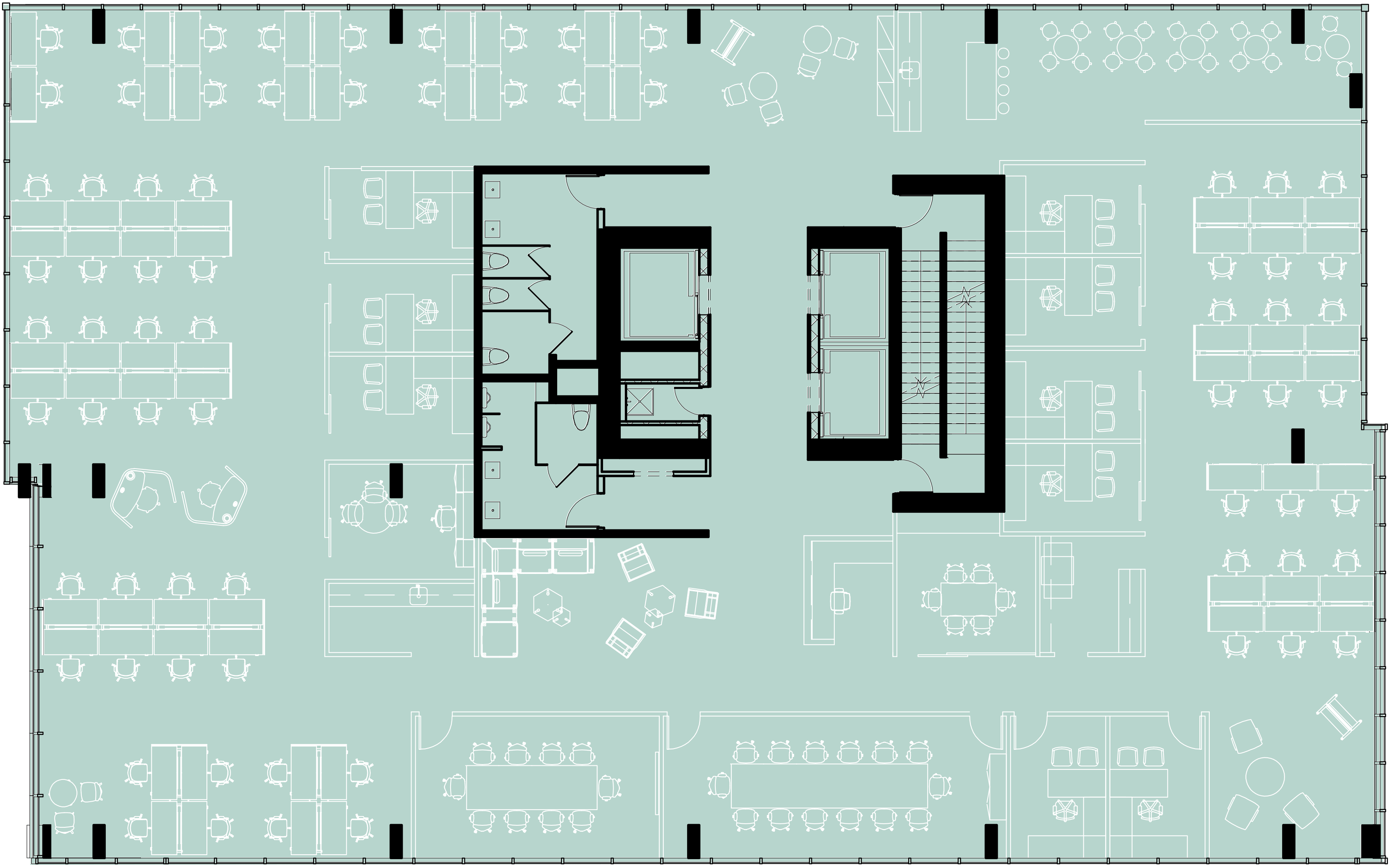 Typical Floorplate – Single Tenant (Level 6 to 16)
